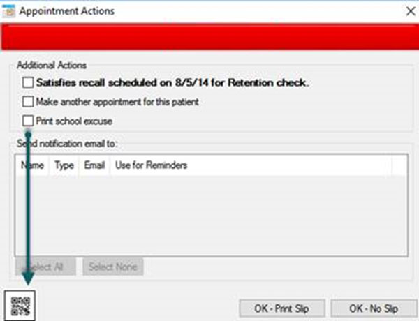 Service Bulletin: QR code notice for MyOrthodontist